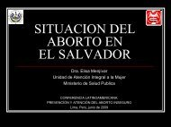 SITUACION DEL ABORTO EN EL SALVADOR
