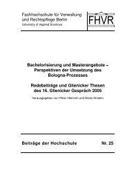 Fachhochschule für Verwaltung und Rechtspflege Berlin - HWR Berlin