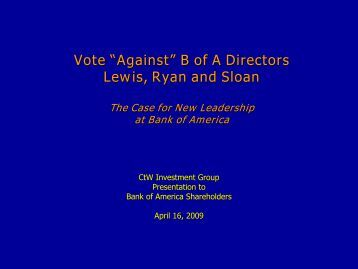 The case for new leadership at Bank of America - CtW Investment ...