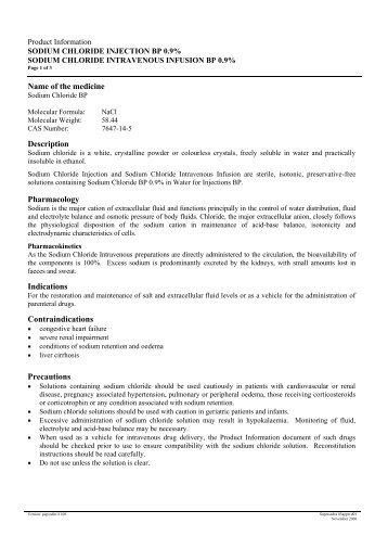 Sodium Chloride Injection - Briggate Medical Company