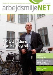 Medlemsblad nr. 2 2011 - Arbejdsmiljønet