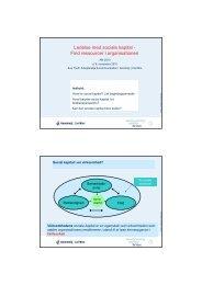 Ledelse med sociale kapital - Find ressourcer i organisationen