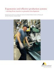 Ergonomics and effective production systems - Ryerson University