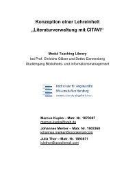 Literaturverwaltung mit CITAVI - Department Information - HAW ...