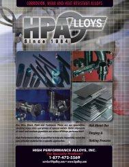 brochure - High Performance Alloys