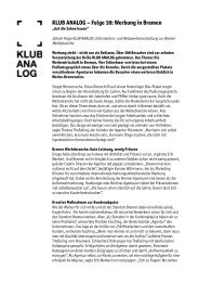 KLUB ANALOG – Folge 10: Werbung in Bremen
