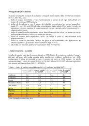 Principali indicatori statistici - Ambito Territoriale 6.5 di Pordenone