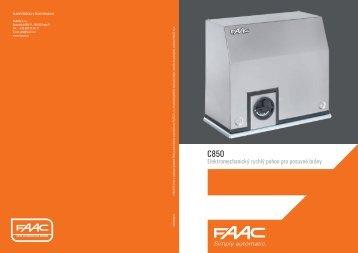 Elektromechanický rychlý pohon pro posuvné brány - FAACCZ