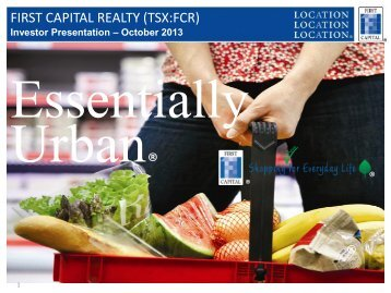 Corporate Presentation - First Capital Realty