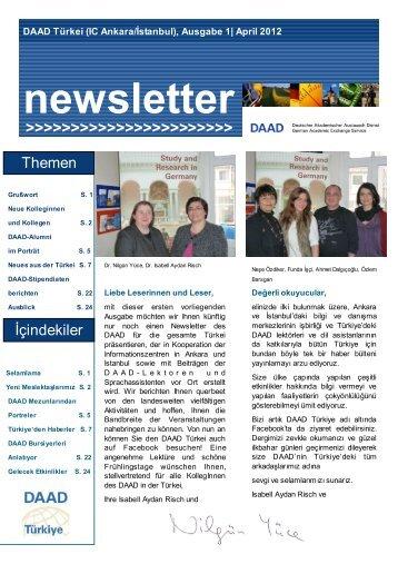 Nisan 2012 - Newsletter - Ãœber uns - DAAD