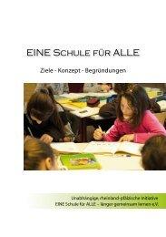 2009 - EINE Schule für ALLE