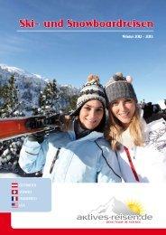 Ski- und Snowboardreisen 2012 - 2013 - Aktives Reisen