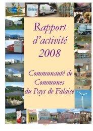 Rapport activité des services de la Communauté de Communes du ...