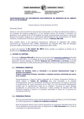 TELETRAMITACIÓN DE DOCUMENTOS ... - EPER-Euskadi