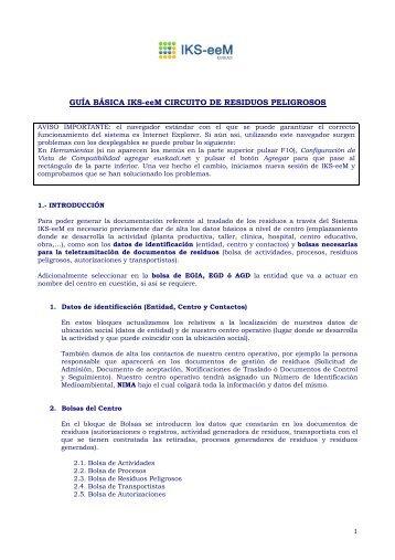 Guía básica para Productores de Residuos ... - EPER-Euskadi