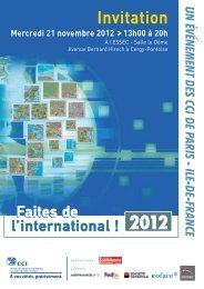 Faites de l'international 21 novembre 2012 (format PDF - 626,30 Ko )