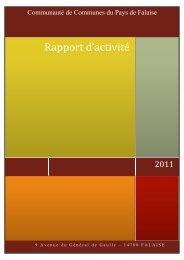 Voir le rapport 2011 - Communauté de Communes du Pays de Falaise