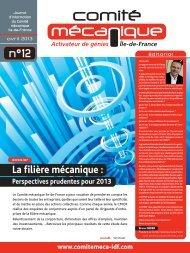 Journal d'informations n°12- Avril 2013 - Comité mécanique Ile-de ...