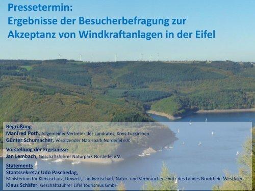 Besucherbefragung zur Akzeptanz von Windkraftanlagen in