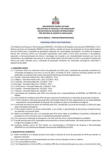 edital - Propesp - Universidade Federal do Pará
