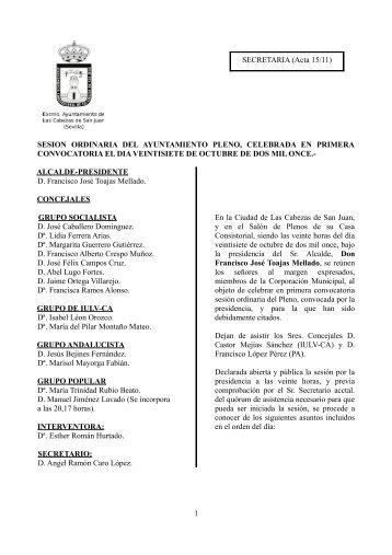27-Oct - Ayuntamiento de Las Cabezas de San Juan
