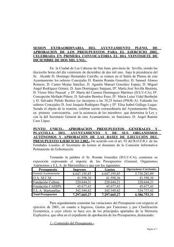27-Dic - Ayuntamiento de Las Cabezas de San Juan