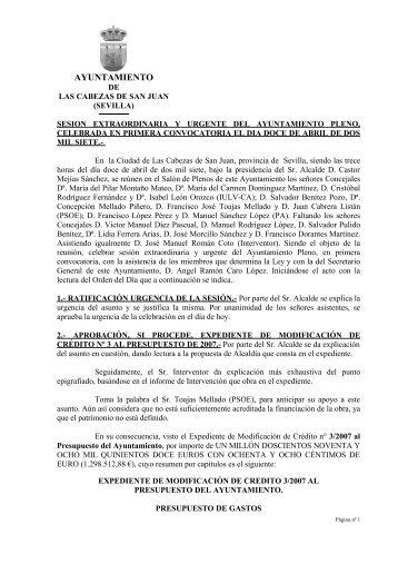 12-Abr - Ayuntamiento de Las Cabezas de San Juan