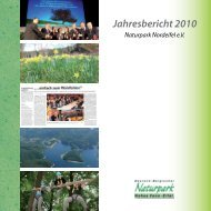 Jahresbericht 2010 -  Naturpark Hohes Venn - Eifel