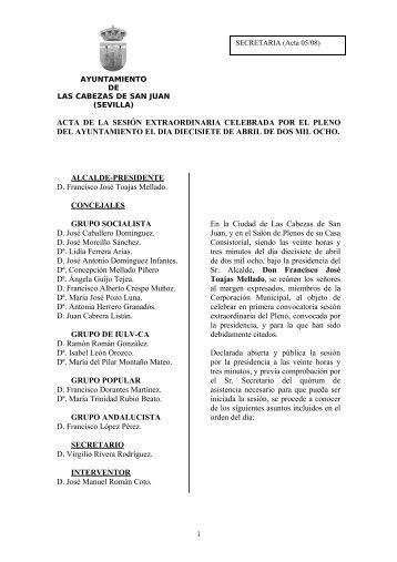 17-Abr - Ayuntamiento de Las Cabezas de San Juan