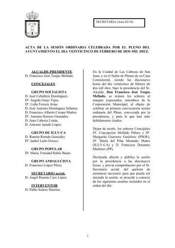 25-Feb - Ayuntamiento de Las Cabezas de San Juan
