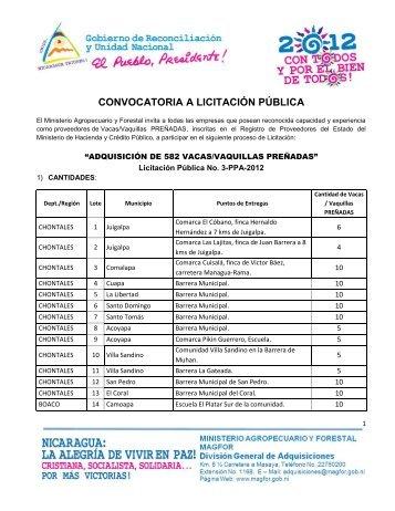 CONVOCATORIA A LICITACIÓN PÚBLICA - magfor