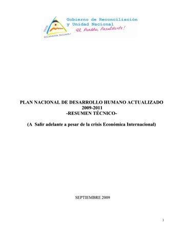 Plan Nacional de Desarrollo Humano (2009-2011) - magfor