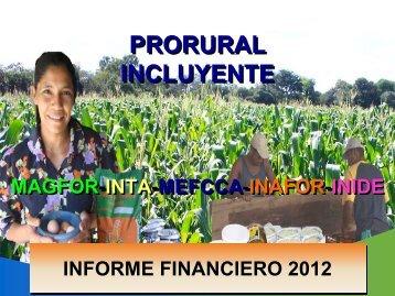 informe financiero prorural - magfor