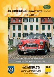 Int. ADAC-Rallye Stemweder Berg Historic - AMC Stemweder Berg