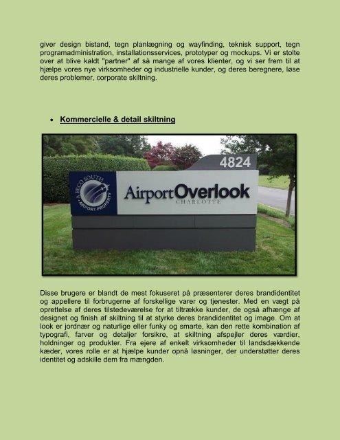 Architectural Signage Southwood Group: Arbejde Miljoer