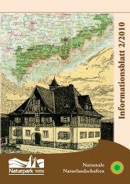 Informationsblatt 2/2010 - Naturpark Erzgebirge-Vogtland