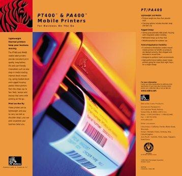 PT400™ & PA400™ Mobile Printers - Euro ID srl