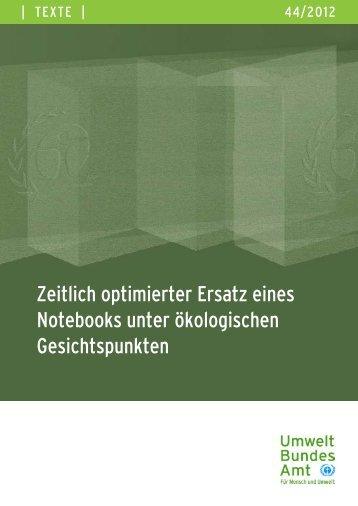 Studie (pdf) - Naturschutz.ch