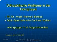Orthopädische Probleme in der Herzgruppe - Lvs-pr.de
