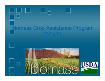 Biomass Crop Assistance Program (BCAP) - Rutgers EcoComplex