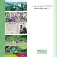 Jahresbericht 2008 - Naturpark Hohes Venn - Eifel