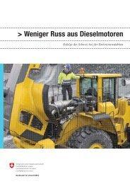 """""""Weniger Russ aus Dieselmotoren""""(pdf) - naturschutz.ch, Natur"""