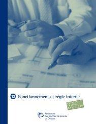 Fonctionnement et régie interne - Fédération des comités de parents ...
