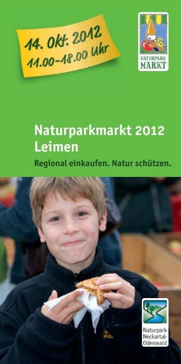 Naturparkmarkt 2012 Leimen - Naturpark Neckartal-Odenwald