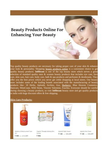 Beauty Products Online For Enhancing Your Beauty