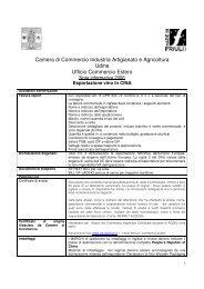 Camera di Commercio Industria Artigianato e Agricoltura Udine ...