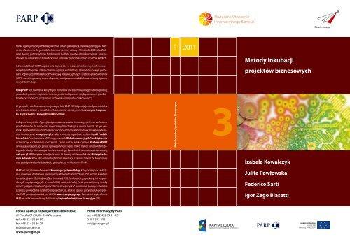 Metody inkubacji projektów biznesowych - Portal Innowacji