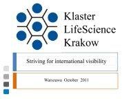 Koncepcja funkcjonowania i rozwoju Klastra Life Science w Krakowie