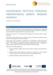 informacją powyjazdową - Portal Innowacji