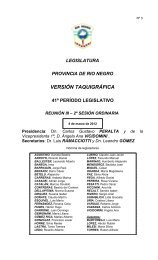 Nº3 - Legislatura de Río Negro